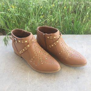 Madison Studded Brown Booties